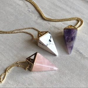 COMING SOON! Crystal Pyramid Necklace